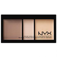 پالت هایلایتر و کانتور نیکس مدل Cream Highlight And Contour Palette